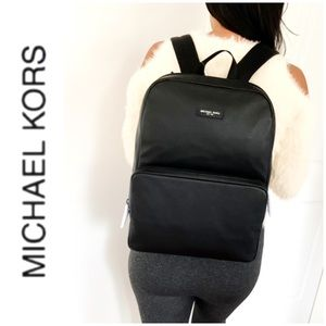 NWT authentic MK genuine leather backpack black